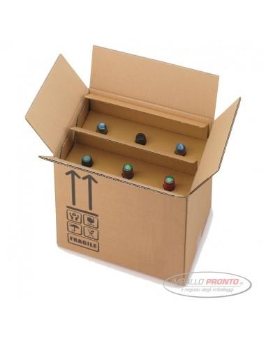 570e801a09 Innovativa scatola omologata per 6 bottiglie preassemblata